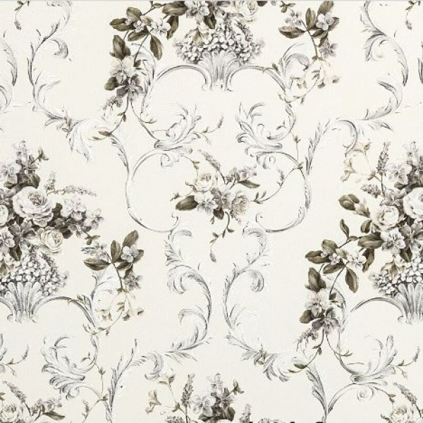 Шпалери Мегаполіс 9132-30 білі з квітами