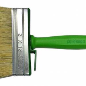Щітка-макловиця 140 * 40 мм, натуральна щетина, пластиковий корпус, пластикова ручка