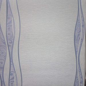 Шпалери Слов'янські ТМ Крокус вінілові на паперовій основі Лаура 10815 декор блакитний